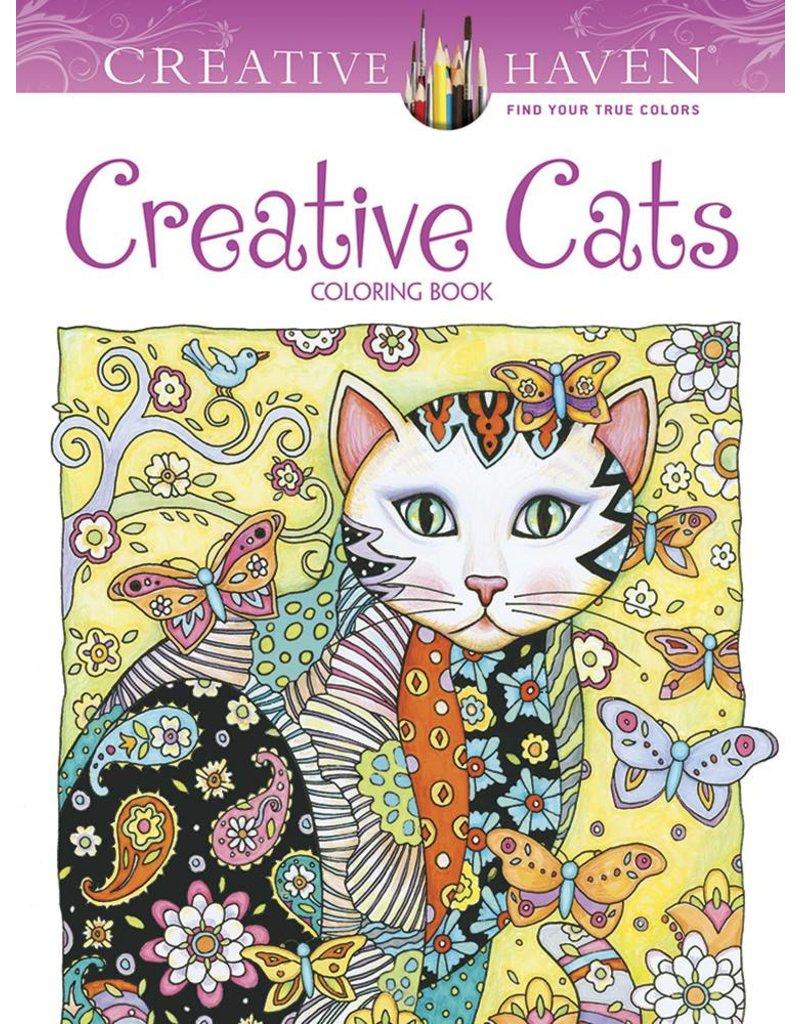 DOVER PUBLICATIONS CREATIVE HAVEN CREATIVE CATS COLOURING BOOK