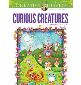 DOVER PUBLICATIONS CREATIVE HAVEN CURIOUS CREATURES COLOURING BOOK