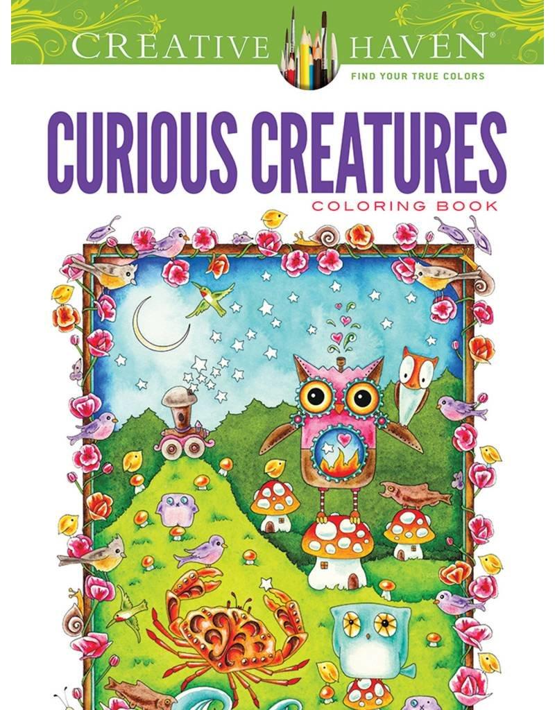 DOVER PUBLICATIONS CREATIVE HAVEN CURIOUS CREATURES COLOURING BOOK