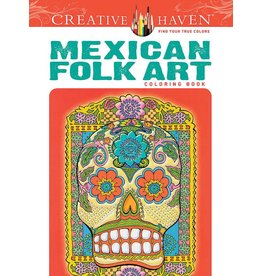 DOVER PUBLICATIONS CREATIVE HAVEN MEXICAN FOLK ART COLOURING BOOK
