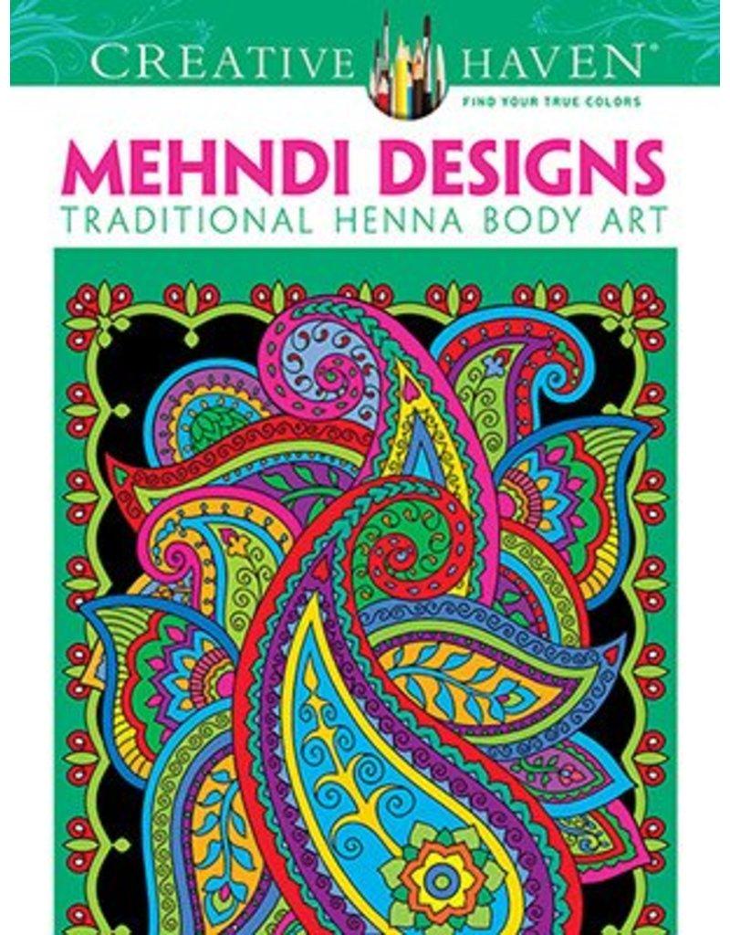 DOVER PUBLICATIONS CREATIVE HAVEN MEHNDI DESIGNS COLOURING BOOK