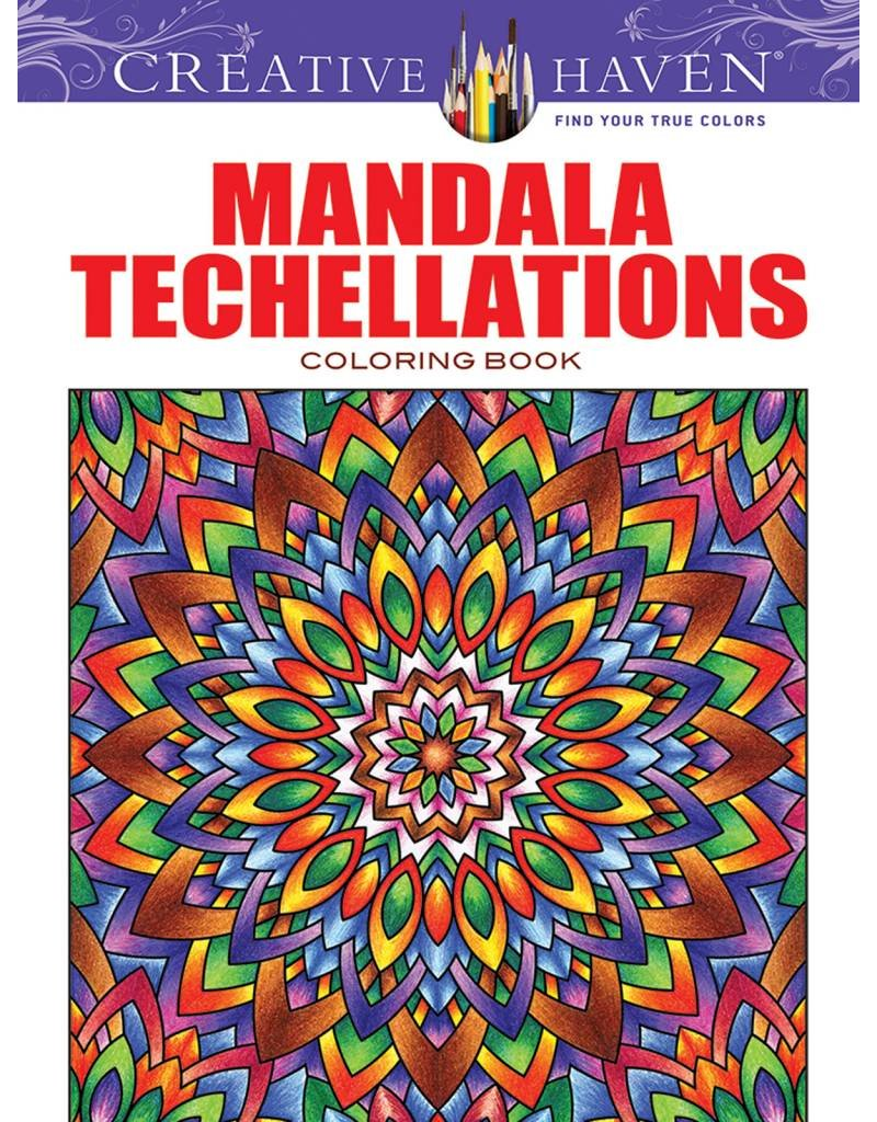 DOVER PUBLICATIONS CREATIVE HAVEN MANDALA TECHELLATIONS COLOURING BOOK
