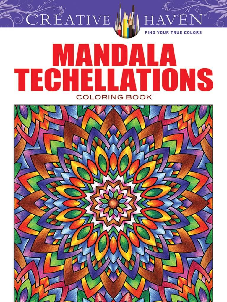 DOVER PUBLICATIONS CREATIVE HAVEN MANDALA TECHELLATIONS COLOURING BOOK
