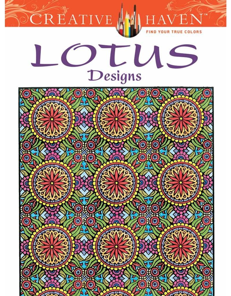DOVER PUBLICATIONS CREATIVE HAVEN LOTUS DESIGNS COLOURING BOOK