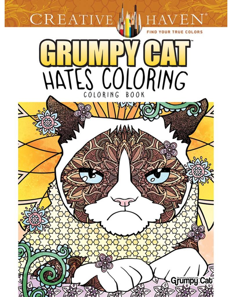 DOVER PUBLICATIONS CREATIVE HAVEN GRUMPY CAT HATES COLORING COLOURING BOOK