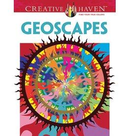 DOVER PUBLICATIONS CREATIVE HAVEN GEOSCAPES COLOURING BOOK