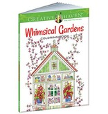 DOVER PUBLICATIONS CREATIVE HAVEN WHIMSICAL GARDENS COLOURING BOOK