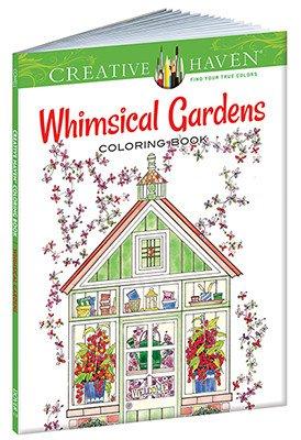DOVER PUBLICATIONS CREATIVE HAVEN WHIMSICAL GARDENS COLOURING BOOK