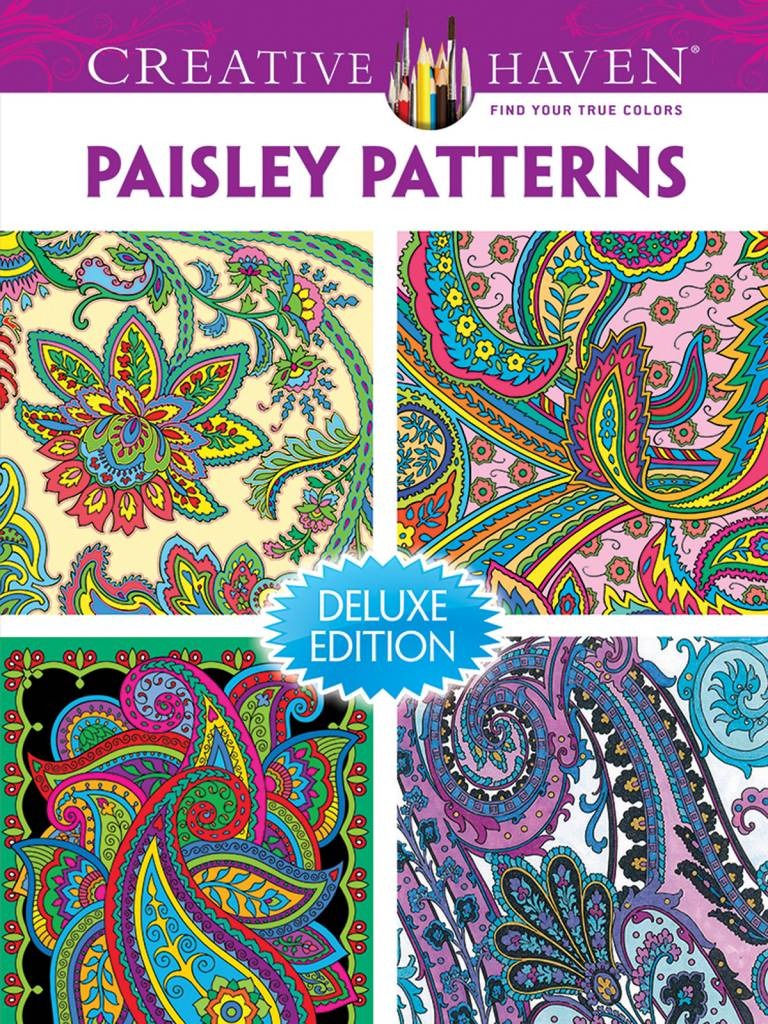 DOVER PUBLICATIONS CREATIVE HAVEN PAISLEY PATTERNS DELUXE COLOURING BOOK