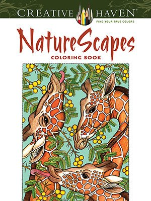 DOVER PUBLICATIONS CREATIVE HAVEN NATURE SCAPES COLOURING BOOK