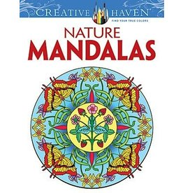 DOVER PUBLICATIONS CREATIVE HAVEN NATURE MANDALAS COLOURING BOOK