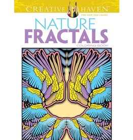 DOVER PUBLICATIONS CREATIVE HAVEN NATURE FRACTALS COLOURING BOOK