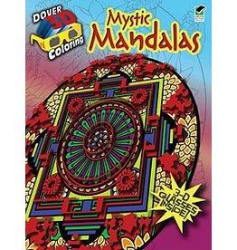 DOVER PUBLICATIONS CREATIVE HAVEN MYSTIC MANDALAS 3D COLOURING BOOK