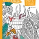 DOVER PUBLICATIONS KEEP CALM AND COLOR GARDENS OF DELIGHT