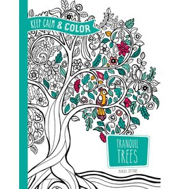 DOVER PUBLICATIONS KEEP CALM AND COLOR TRANQUIL TREES