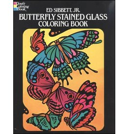 DOVER PUBLICATIONS BUTTERFLY STAINED GLASS COLOURING BOOK