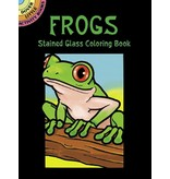 DOVER PUBLICATIONS FROGS STAINED GLASS COLOURING BOOK