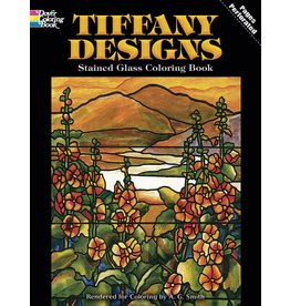 DOVER PUBLICATIONS TIFFANY STAINED GLASS COLOURING BOOK