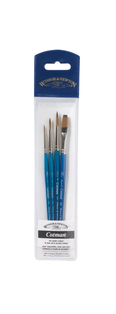 WINSOR NEWTON COTMAN BRUSH SET/4