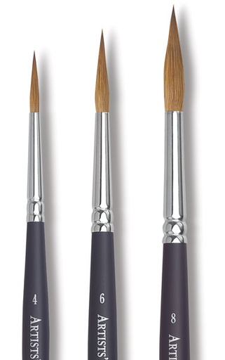 WINSOR NEWTON WINSOR & NEWTON PROFESSIONAL WATERCOLOUR BRUSH POINTED ROUND 8