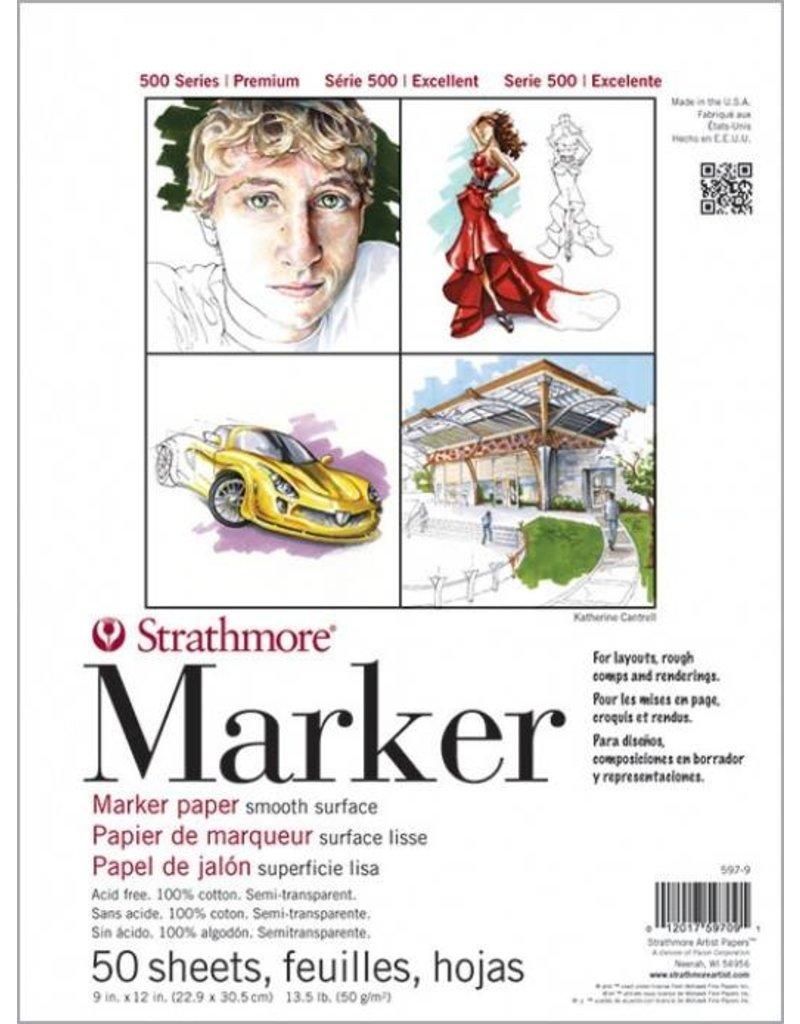 STRATHMORE STRATHMORE 500 SERIES MARKER PAPER 11X14 13.5LB TAPE BOUND  50/SHT    STR-597-11