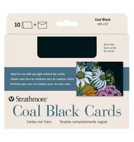 STRATHMORE STRATHMORE COAL BLACK CARDS BLACK 5X7 10/PK    STR-105-157