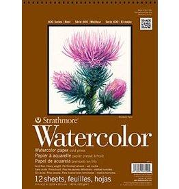 STRATHMORE STRATHMORE 400 SERIES WATERCOLOUR PAPER PAD 140LB CP 12X18 TOP COIL 12/SHT    STR-440-3