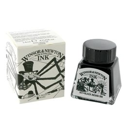 WINSOR NEWTON WINSOR & NEWTON DRAWING INK BLACK INDIAN 14ML