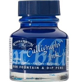WINSOR NEWTON WINSOR & NEWTON CALLIGRAPHY INK LIGHT BLUE 30ML