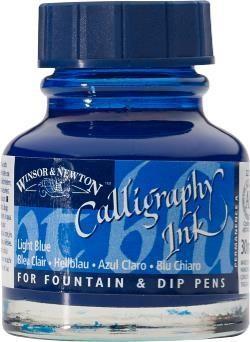 WINSOR NEWTON WINSOR & NEWTON CALLIGRAPHY INK LIGHT BLUE 30ML