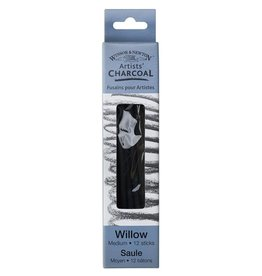 WINSOR NEWTON WINSOR & NEWTON WILLOW CHARCOAL MEDIUM 12/PK