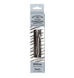 WINSOR NEWTON WINSOR & NEWTON WILLOW CHARCOAL THIN 3/PK