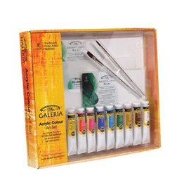 WINSOR NEWTON GALERIA ACRYLIC COLOUR ART SET