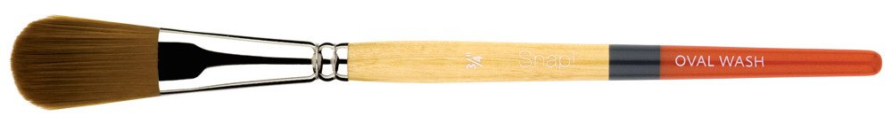 PRINCETON PRINCETON SNAP BRUSH SERIES 9650 GOLD SYNTHETIC SH OVAL MOP 3/4 INCH