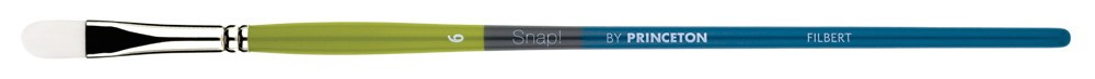 PRINCETON PRINCETON SNAP BRUSH SERIES 9800 WHITE SYNTHETIC LH FILBERT 8