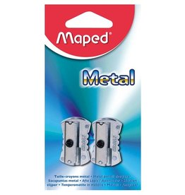 MAPED MAPED METAL PENCIL SHARPENER SINGLE HOLE 2/PK