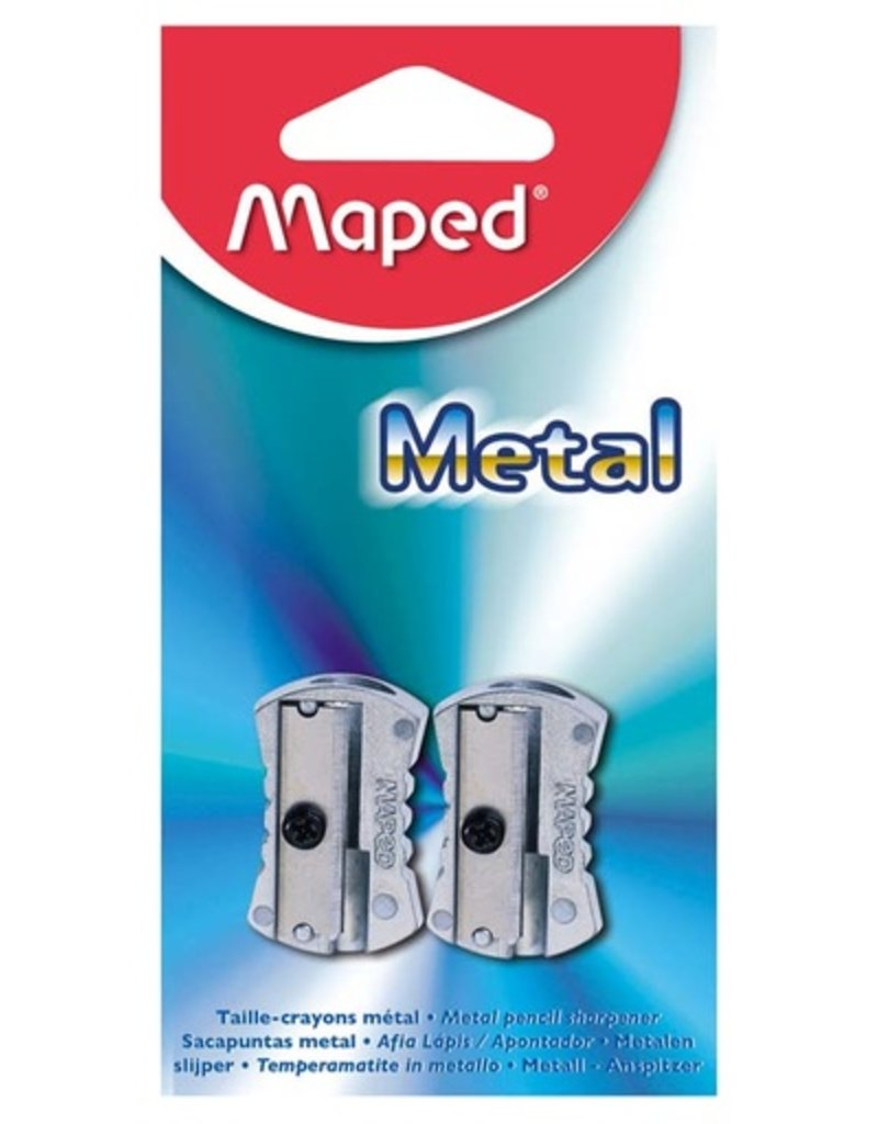MAPED MAPED METAL PENCIL SHARPENER SINGLE HOLE 2/PK