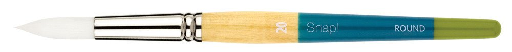 PRINCETON PRINCETON SNAP BRUSH SERIES 9850 WHITE SYNTHETIC SH ROUND 20