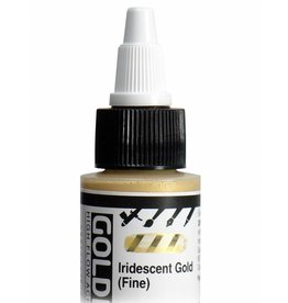 GOLDEN GOLDEN HIGH FLOW ACRYLIC IRIDESCENT GOLD (FINE) 4OZ