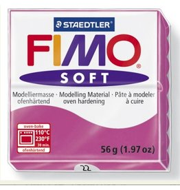 STAEDTLER FIMO SOFT OVEN BAKE CLAY 22 RASPBERRY 57G
