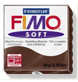 STAEDTLER FIMO SOFT OVEN BAKE CLAY 75 CHOCOLATE 57G