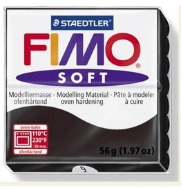 STAEDTLER FIMO SOFT OVEN BAKE CLAY 9 BLACK 57G