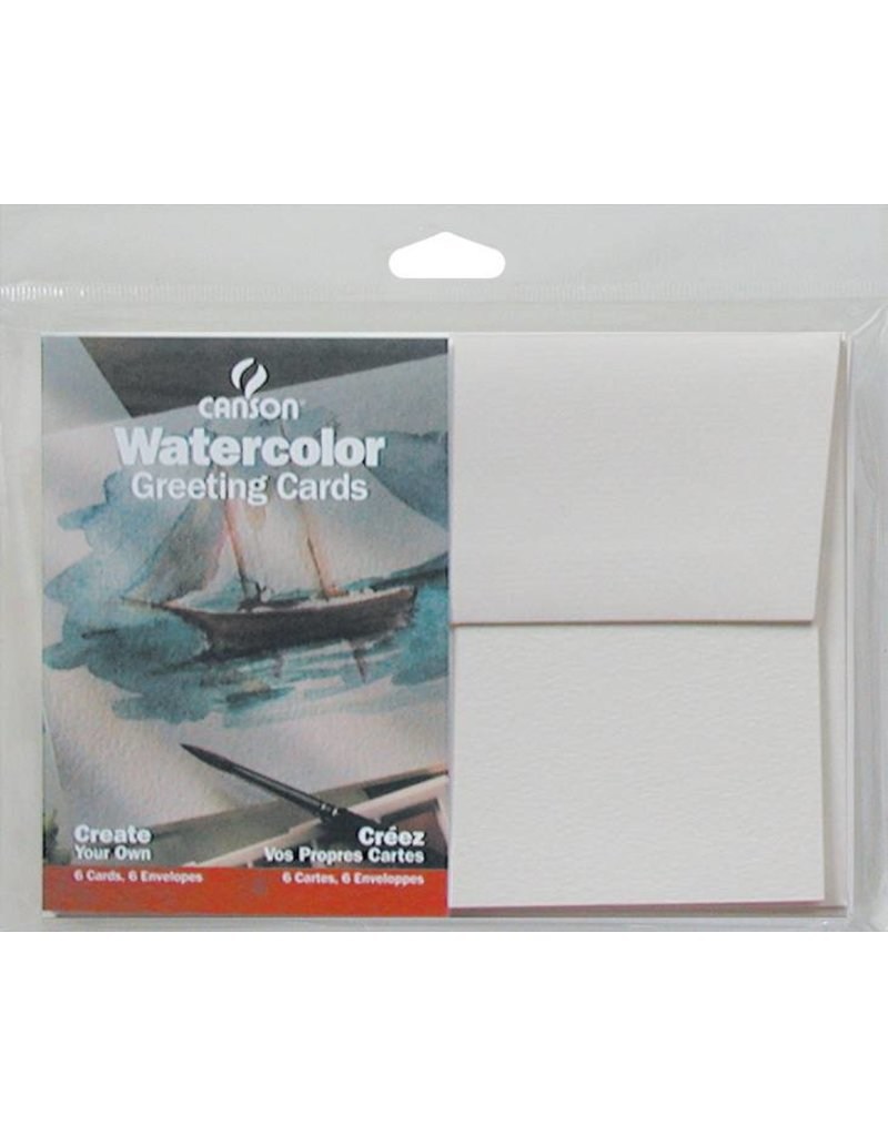 CANSON CANSON WATERCOLOUR CARDS AND ENVELOPES 5X7 6/PK        CAN-100511541