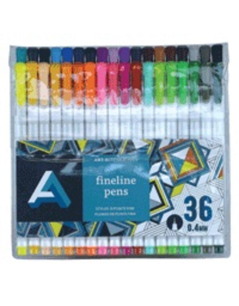 ART ALTERNATIVES ART ALTERNATIVES FINELINE PEN SET/36