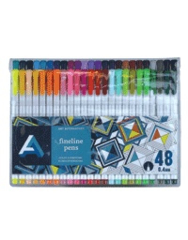 ART ALTERNATIVES ART ALTERNATIVES FINELINE PEN SET/48