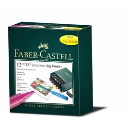 FABER CASTELL PITT ARTIST PEN BIG BRUSH SET/12