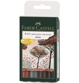 FABER CASTELL PITT ARTIST PEN BIG BRUSH SET/4 CLASSIC