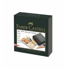 FABER CASTELL PITT ARTIST PEN BRUSH SET/24 STUDIO BOX