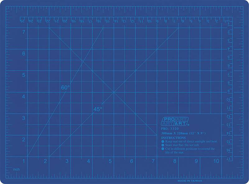 PRO ART PRO ART CUTTING MAT BLUE 9X12