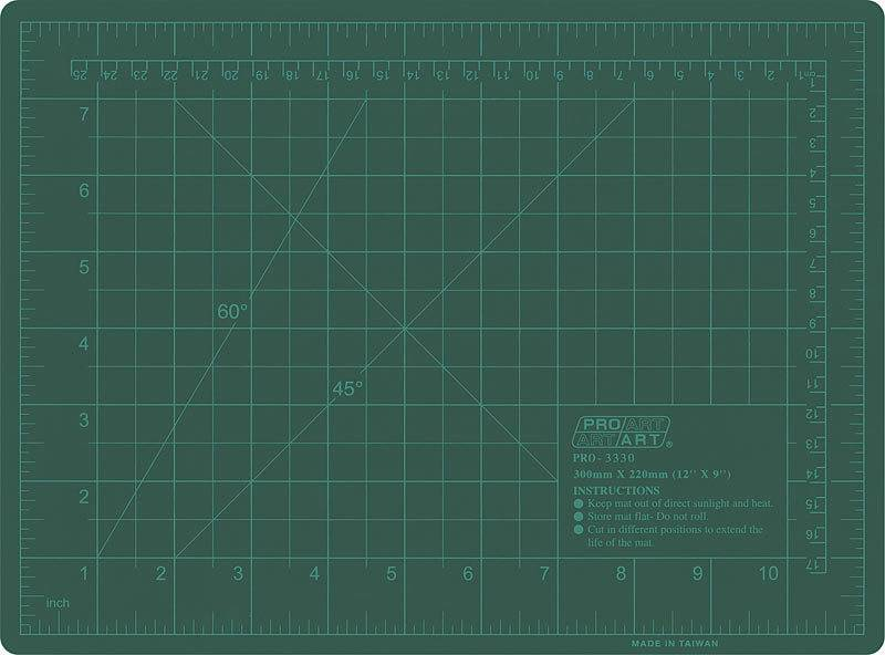 PRO ART PRO ART CUTTING MAT GREEN 12X18